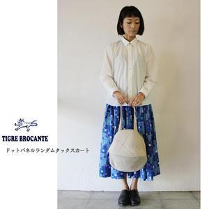 TigreBrocante ティグルブロカンテ ドットパネルランダムタックスカート ♯ブルー 【送料無料】