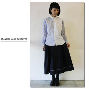 GRANDMA MAMA DAUGHTER グランマママドーター  デニムサイドポケットスカート ♯ワンウォッシュ 【送料無料】
