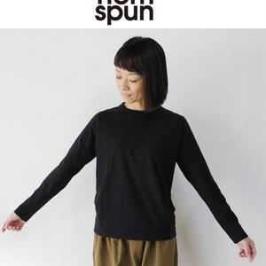 homspun ホームスパン 30/-天竺長袖Tシャツ ♯サラシ、ネイビー、ブラック