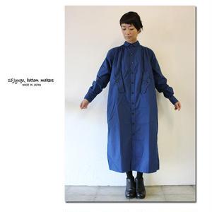 15 jyugo ジュウゴ horse clothギャザーワンピース ♯ブルー 【送料無料】