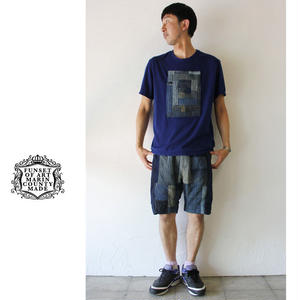 FUNSET OF ART ファンセットオブアート RANRU IDGパッチTシャツ #インディゴ 【送料無料】