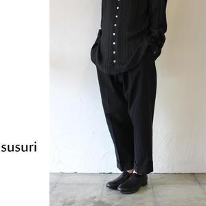 susuri ススリ プロヴァ―パンツ #ブラック 【送料無料】