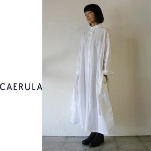 **再入荷**CAERULA カエルラ コーマブロードオーバーワンピース ♯ホワイト、ネイビー、オリーブ 【送料無料】