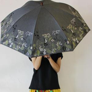 Everlasting Sprout エバーラスティングスプラウト 窓辺の花刺繍の長傘(日傘) 【送料無料】