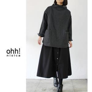 ohh!nisica オオニシカ ウールスモッグシャツ ♯チャコールグレー【送料無料】