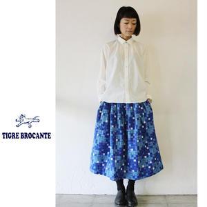 Tigre Brocante ティグルブロカンテ ドットパネルポケットフィセルスカート ♯ブルー 【送料無料】