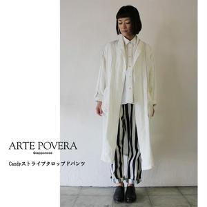 ARTE POVERA アルテポーヴェラ Candyストライプクロップドパンツ ♯濃色 【送料無料】