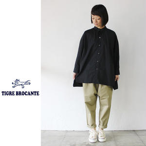 Tigre Brocante ティグルブロカンテ 100/2ブロードバックタックシャツ ♯ホワイト、ブラック【送料無料】