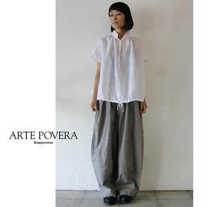 ARTE POVERA アルテポーヴェラ ソフティーリネンバルーンシャツ ♯ホワイト、グレー【送料無料】
