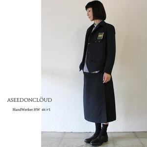 ASEEDONCLOUD アシードンクラウド handwerker ハンドベーカー HWスカート ♯チャコール 【送料無料】
