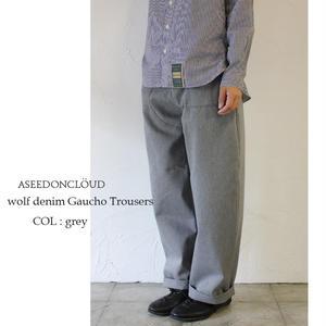 ASEEDONCLOUD アシードンクラウド wolf denim Gaucho Trousers #grey 【送料無料】