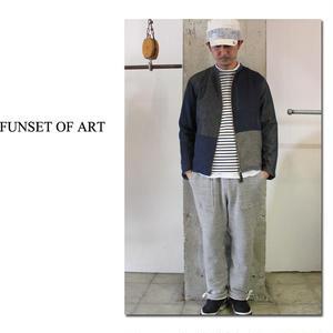 FUNSET OF ART ファンセットオブアート インディゴシャンブレーパッチワークライダース #インディゴ【送料無料】