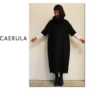 **S u K i M a -スキマ-別注 ** CAERULA カエルラ ソフトメルトンホークスプルチュニック(ロング) ♯ブラック【送料無料】