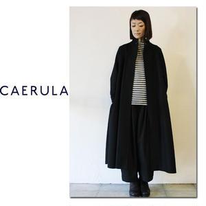 CAERULA カエルラ ソフトメルトンシアンローブコート ♯ブラック【送料無料】
