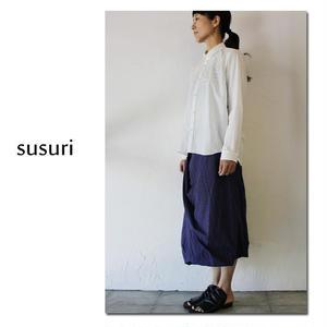 susuri ススリ ターンバックスカート ♯ネイビー 【送料無料】