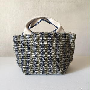 Gara-bou × Canvas Small Tote (Olive Stripe)