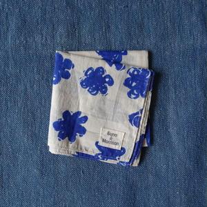 #150 Khadi Badala Flower Bandana (Blue)