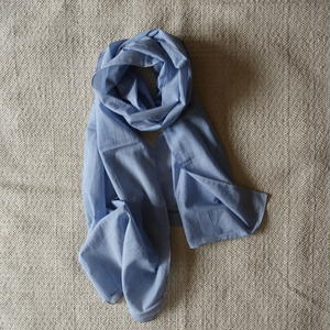 #100 Khadi Stripe Stole 54×180 (Blue)
