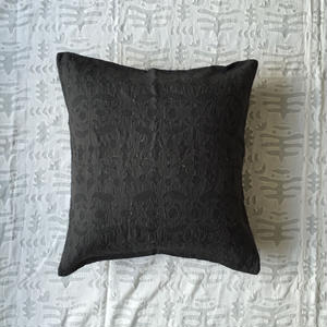 Khadi Cutwork Cushion Cover Alder Dye (Birds)
