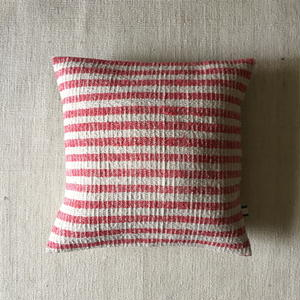 Gara-bou × Khadi Cushion Cover (Cherry Border)