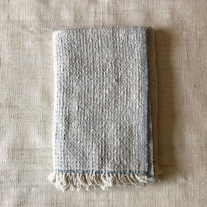 Gara-bou Blanket Stole Kabe 100×190cm (Light Blue Gray)