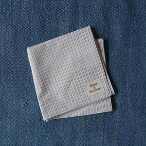 #100 Khadi Stripe Bandana (White)