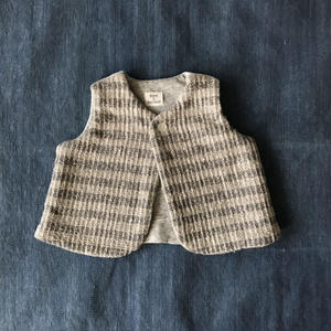 Gara-bou Baby Vest (Sand Border)