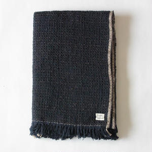 Gara-bou Blanket Stole 1ply 100×190cm (Midnight)