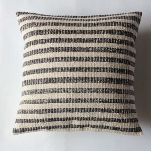 Gara-bou × Khadi Cushion Cover (Charcoal Border)