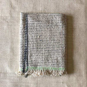 Gara-bou Blanket Stole Kabe 100×190cm (Ice Pin Border)