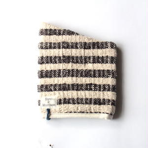 Gara-bou Kitchen Mitten (Charcoal Border)