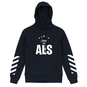 FUCK OFF ALS プルオーバーパーカー  (ブラック)