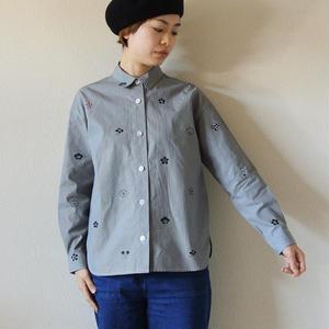 ギンガムチェックシャツ <梅家紋>