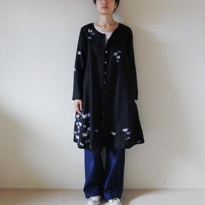 コートワンドレス 黒 <小菊>