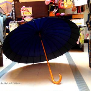 【人気】60㎝ 傘専門店 通販 東京 メンズ レディース 雨傘 サビにくい 旅傘【蛇の目 24本骨 紺】