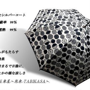 -15~18℃ 傘専門店  通販  東京  日傘  雨傘  晴雨兼用   ワンタッチ  ジャンプ  グラスファイバー  軽量  サビない  旅傘  【シルバーコート  フルーツ  White】
