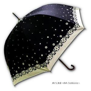 【2/3まで遮熱】 傘専門店 通販 東京 日傘 雨傘 晴雨兼用 ワンタッチ ジャンプ グラスファイバー 軽量 サビない 旅傘 【Blackコート  Littleflower Black】