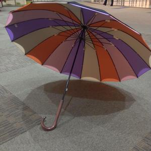 【完全廃盤】傘専門店  通販  東京  雨傘  グラスファイバー  サビない  軽量  旅傘  【16本骨  2重張りレインボー】