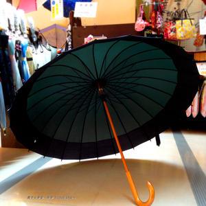 【人気】60㎝ 傘専門店 通販 東京 メンズ レディース 雨傘 サビにくい 旅傘【蛇の目 24本骨 深緑】