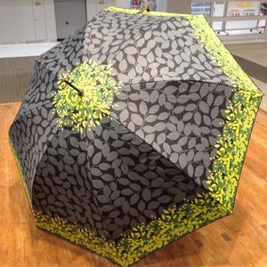 UVカット99% 傘専門店  通販  東京  日傘  雨傘  晴雨兼用   ワンタッチ  ジャンプ  黒骨  サビにくい 旅傘  【おしゃれ傘   リーフシルエット Black】