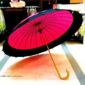 【人気】傘専門店 通販 東京 メンズ レディース 雨傘 サビにくい 旅傘【蛇の目 24本骨 ピンク 】
