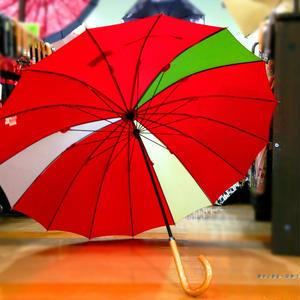 36本限定生産 傘専門店 通販 東京 雨傘 オリジナル メンズ レディース グラスファイバー サビない 超軽量 旅傘【3駒 紅-黄/紺/緑】※色変更