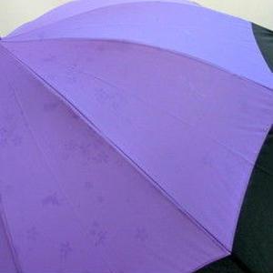 UVカット93% 傘専門店  通販  東京  ワンタッチ ジャンプ  雨傘  晴雨兼用  グラスファイバー  サビない  旅傘  【12本骨  柄が浮き出る  うさぎちゃん 紫】