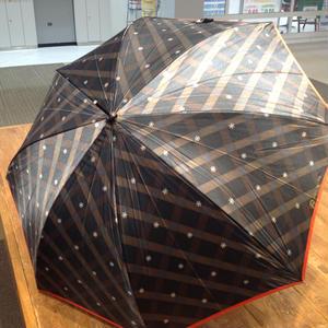 【製造終了】傘専門店  通販  東京  雨傘  ワンタッチ  ジャンプ  サビにくい  黒骨  旅傘  【サテン生地  ドットチェック】