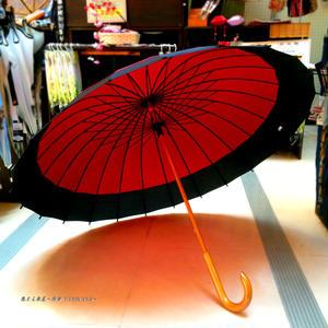 【人気】60㎝ 傘専門店 通販 東京 メンズ レディース 雨傘 サビにくい 旅傘【蛇の目 24本骨 臙脂】