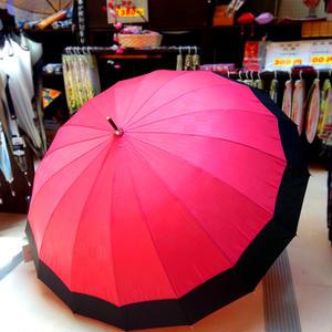 傘専門店  通販  東京  雨傘  ワンタッチ  ジャンプ  グラスファイバー  サビない  旅傘  【16本骨 和風ツートン  矢絣  】