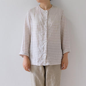 check linen Jacket(Lady's)