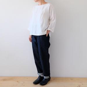 tapered denim work pants/Lady's