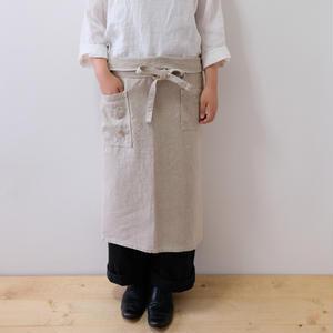 linen sarong apron A