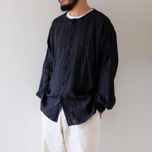 リネンシャツ(墨黒)/Men's